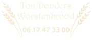Ton Donders Worstenbrood
